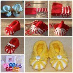 knitted baby booties DIY F