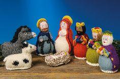 Hand Knit Alpaca Nativity