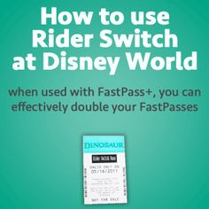 Rider Switch is Disney's system that allows people with small children to take turns riding, and it can effectively double your FastPasses. Here's how it works.