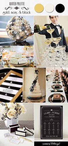 An art deco wedding