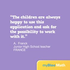 Congratulations to the hard-working kids! Thanks for the great quote, A. Franck.