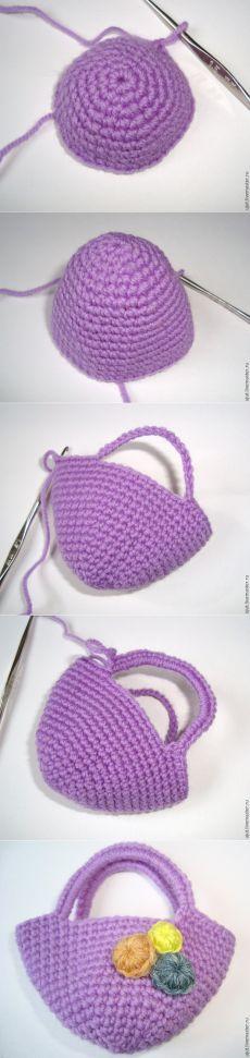 Вяжем красивую сумочку для игрушки - Ярмарка Мастеров - ручная работа, handmade