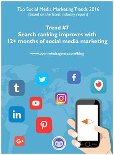 Top Social Media Marketing Trends 2016: Based on the Latest Industry Report by Social Media Examiner. Trend 7: Search Ranking improves with 12+ months of Social Media Marketing For more analysis from the report, read our blog: [Click on image] #omagency #socialmedia #marketing