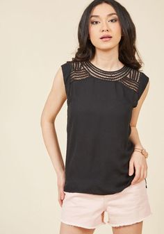 #ModCloth - #ModCloth Creative Mixer Sleeveless Top in Black in L - AdoreWe.com