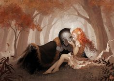 Persephone was abducted by Hades, the god-king of the underworld.*****Persephone and Hades by JanainaArt on DeviantArt Elfen Fantasy, Fantasy Art, Hades Und Persephone, Character Inspiration, Character Art, Image Couple, Fantasy Couples, Lore Olympus, Greek Gods