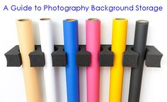 A Guide to Photography Background Storage - Some GREAT ideas for backdrop storage!