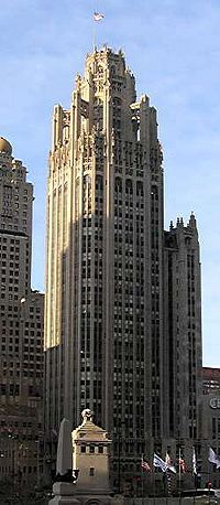 "Tribune Tower, Chicago - For a time, I worked on one of the ""tower"" floors at a small advertising agency. The tower elevator was rickety, old and incredibly slow. Each time I made it to my floor, I felt as if I had escaped death one more time."