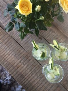 Gin Tonic med agurk og pepper – Dailystory Gin And Tonic, Frisk, Stuffed Peppers, Lime, Plants, Food, Lima, Limes, Meals