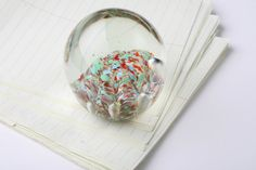 MultiColored Vintage Paper Weight by AlexandriaMaries on Etsy, $20.00