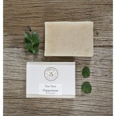 Tea Tree Peppermint Soap Herbal Soap, All Natural Soap, Essential Oil... (€5,59) ❤ liked on Polyvore featuring beauty products, bath & body products and body cleansers