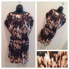 """Unique Tunic Top/Dress Awesome colors and patterns on this top! Drawstring cinch waist. Approx. 27"""" bust, 35"""" shoulder to hem. Pockets!!! Size L. Perfect Condition. Derek Lam Tops Tunics"""