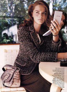'Workweek Chic' US Harper's Bazaar, September 2002 Model: Carmen Kass  Photographer: Patrick Demarchelier