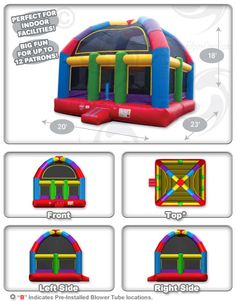 Wacky (20') Dome Bouncer™ (Extra-Large) - Inflatable Bounce Houses
