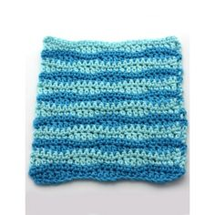 Wavy Stripes Dishcloth-easily modified for tiny blanket for NICU