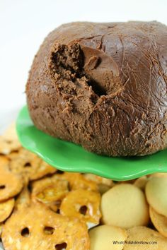 Chocolate Peanut Butter Cheese Ball - Could shape like a football for your Super Bowl party!