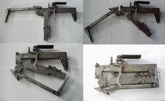 unconventional improvised gun, homemade folding submachine gun