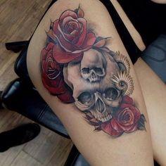 Skull Tattoos 74 - 80 Frightening and Meaningful Skull Tattoos