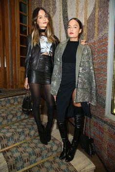 Chloé Bartoli (r) & Marie Lou Bartoli Night Out Outfit, Night Outfits, Cool Outfits, Fashion Week, Look Fashion, Paris Fashion, Caviar, Printemps Street Style, Spring Street Style