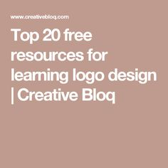 Top 20 free resources for learning logo design | Creative Bloq