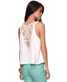 Crochet Spine Top | FOREVER21 - 2008586348