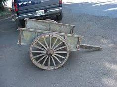 USMC wooden handcart