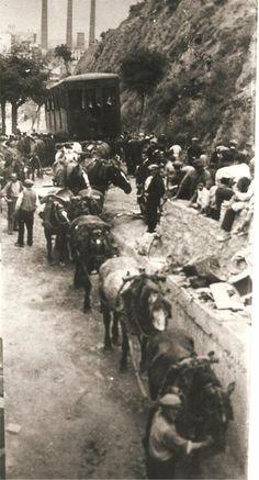 LA BARCELONA D'ABANS, D'AVUI I DE SEMPRE ...!!!: LA CONSTRUCCIÓN EN 1927,DEL FUNICULAR DE MONTJUÏCH, BARCELONA,