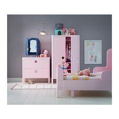 BUSUNGE Garderobeskab, lys pink 80x139 cm lys pink