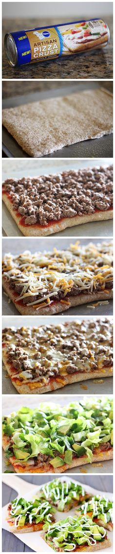 Grilled Pizza Layered With Hummus, Fresh Veggies, Olives And Feta ...
