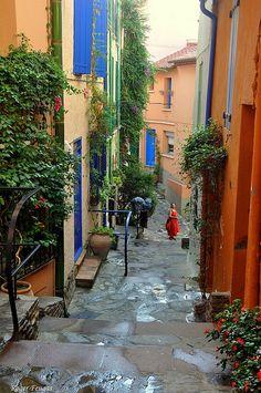 Les ruedes de Collioure, France