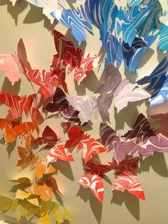 #Marmorieren auf Papier #Schmetterlinge