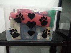 Costuraki: Decoração de caixa para os patudos :)