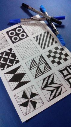 12 patterns for doodling ... Visite nos no YOUTUBE - Desenho-Loko