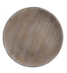WOODEN PLATE IN ANTIQUE BROWN COLOR Δ40Χ4