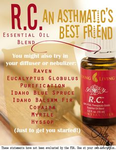 RC Essential Oil Blend-- an Asthmatic's best friend! Learn how one family overcame their little girl's asthma through completely natural remedies