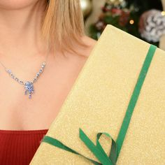 Visit Shop LC to shop brilliant Tanzanite pieces! Christmas Shopping, Christmas Gifts, Tanzanite Necklace, Periwinkle Blue, Birthstones, Gemstone Jewelry, Dangles, Gemstones, Sterling Silver