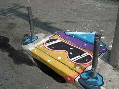 Storm Drain Art - skis