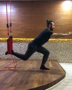 #fitness #redcord #training #getfit #strength #stability Suspension Training, Lunges, Stability, Strength, Workout, Fitness, Red, Instagram, Work Out