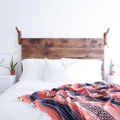 Headboard and white wall