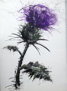 thistle painting                                                       …