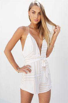 6a0c4e3459e Geo Pixie Playsuit - Playsuits by Sabo Skirt