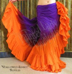 """Hallowed Sunset Ruffles"" 25 Yard Petticoat Skirt.  You can order yours here:  http://www.paintedladyclothiers.aradium.com/6p9y1"