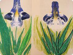 Easy tutorial for making these beautiful Van Gogh irises