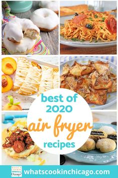 We made it through another delicious, food-filled year! Here is a list of the best Air Fryer recipes I made this year! This year, I focused on beginner recipes to test out the versatility of an air fryer - in fact, I find the air fryer to be much easier to use compared to an electric pressure cooker! I can't wait to get started on 2021 recipes to try out and share! Until then, here's a fond farewell to 2020 and a delicious outlook for 2021! Desserts For A Crowd, Fancy Desserts, Dessert Recipes, Air Fryer Fried Chicken, Air Fryer Baked Potato, Beginner Recipes, Best Air Fryers, Cinnamon Chips, Fruit Salsa