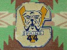 40's Bulldog Letter Patch
