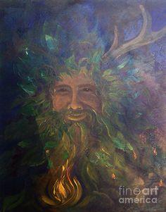 Cernunnos Awakens Painting by Colleen Koziara