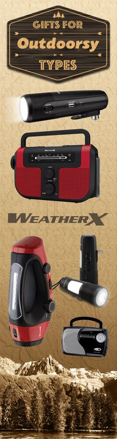 WeatherX presents: outdoorsy gifts for him, for her or anybody else on your list. These items are sure to please whether stuffed in a stocking or wrapped with a bow. Give something they'll use for years to come; give the gift of adventure. #DPI #YourFriendInTech