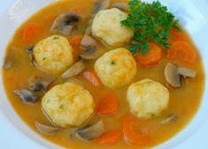 Krumplileves krumpligombóccal Thai Red Curry, Food To Make, Cravings, Shrimp, Chicken, Ethnic Recipes, Easy, Drink, Nice