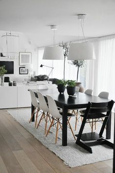 schwarz weiß Esszimmer Möbel