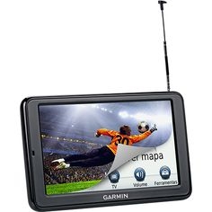 "Shoptime GPS Automotivo GARMIN Nüvi 2580TV Tela 5"" Bluetooth com TV Digital e Função TTS - R$ 263,66"