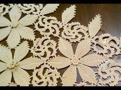 Beautiful Handmade Crochet Doily Table R - Diy Crafts - DIY & Crafts Filet Crochet, Crochet Motif, Irish Crochet, Crochet Designs, Crochet Doilies, Crochet Stitches, Crocheted Lace, Crochet Leaves, Crochet Flowers
